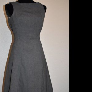 H&M Fit and Flare Gray Dress
